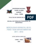 Mortalidad Neonatal en El Peru y Departamentos 2011- 2012