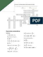Cruzadas T5 T6 EM - Expressões Matemáticas 01