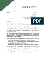 IOPC Decision Letter 14 Dec 18