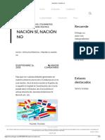 Nación Sí, Nación No