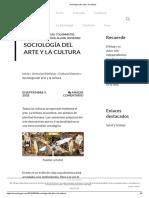 Sociología Del Arte y La Cultura