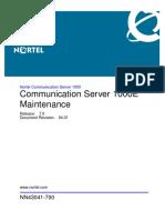 NN43041-700 04.01 Fault Management CS 1000E Maintenance