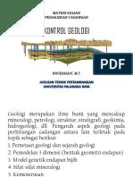 3. Kontrol Geologi