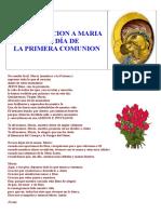Consagracion a Maria en El Día de La Primera Comunion (1)