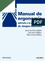 Manual de Ergonomía Aplicada a La Prevención de Riesgos Laborales - José Luis Llorca Rubio