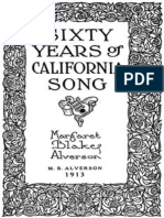 Sixty Years of California Song by Margaret Blake Alverson
