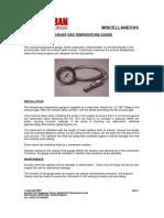 6E) Exhaust Gas Temperature Gauge Installation