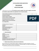 SUSI Scholars Application Form 1