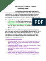 04 Global Awareness Presentation Planning