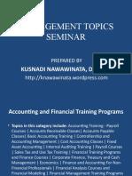 Management Topics Seminar