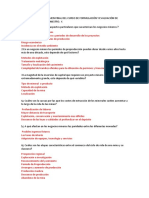 Respuestas Balotario Para El Examen Final Del Curso de Formulación y Evaluación de Proyectos Mineros