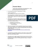 BigBlueButton Presenter Brief Manual Procedur