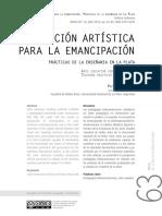 Educación Artística Para La Emancipación_La Plata