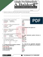 Exam 4to Quimica Primaria Elementos