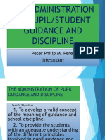 The Administration of Student Guidance and Discipline