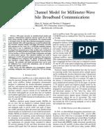 3-D Statistical Channel Model for Millimeter-Wave Outdoor Mobile Broadband Communications