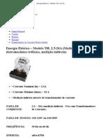 Energia Elétrica – Modelo T8L 2,5-20A (Medidor de energia eletromecânico trifásico, medição indireta) _ Minulight