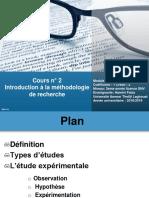 Cours n°2. Introduction à la méthodologie de recherche.ppsx