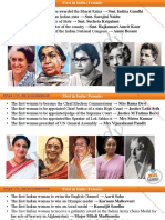 First in India (Female)