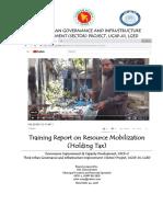 Training Report on Resource Mobilization (Holding Tax) in Municipalities of Faridpur & Gopalganj