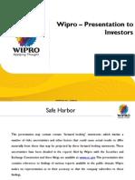 Wipro Investor Presentation q1 FY11