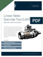 ST&R Linear Valve Override Tool