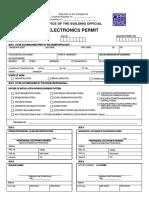Electronics Permit