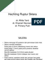 hechting sklera parsial