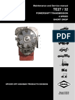 dana te27 powershift transmission maintanance