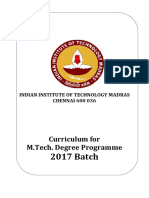 M.tech.Curriculum 2017