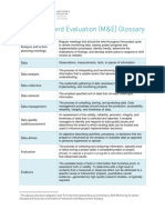 Monitoring and Evaluation Glossary