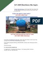 WA +62 812-9627-2689 Distributor Bio Septic Tank Garut