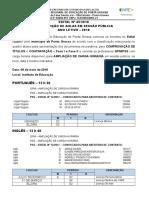 Edital de Convocação Nº 45-2018 Para Comprovação de Títulos Contratação e Distribuição de Aulas - Professores QPM e PSS - Ponta Grossa - 08-05-2018 - ATUALIZADO