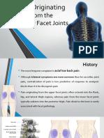Pain Originating From The facet