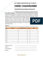 Formatos de Inscripción Tsabaoniñe Chakiñambe 2018 Botaman