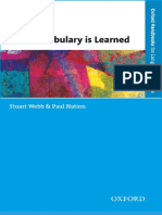 How Vocabulary is Learned (2016, Oxford University Press)