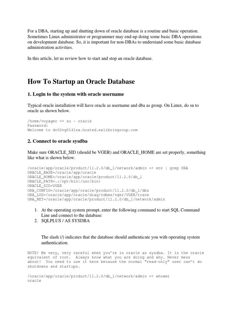 ntacting_support_startingupandshuttingdowntheoracledatabase