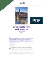 Lyon met le vert en Lumières