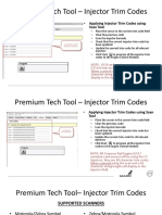 How to Apply Injector Trim Codes Using Scan Tool