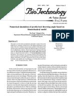Numerical Simulation of Javelin Best Throwing Angle Based on Biomechanical Model