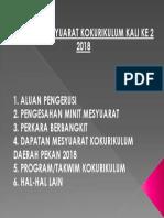 Agenda Mesyuarat Kokurikulum Ke 2 2018