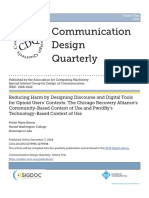 Reducing Harm by Designing Discourse and Digital Tools for Opioid Users' Contexts