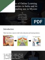 Final Presentation on Online Learningl