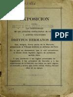 Exposicion Contra Dreyfus