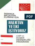 1969 Düzen Deği̇şi̇kli̇ği̇ Proğrami