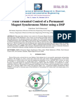 Field Oriented Control of a Permanentmagnet Synchronous Motor Using a Dsp