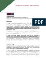 3.La Consideración Del Riesgo en La Estructura de Financiamiento