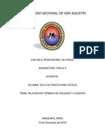 Informe dilatacion