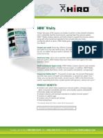 HIRO™ Vitality Product Profile