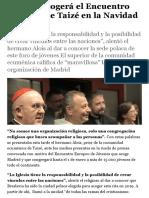 Polonia acogerá el Encuentro Europeo de Taizé en la Navidad de 2019